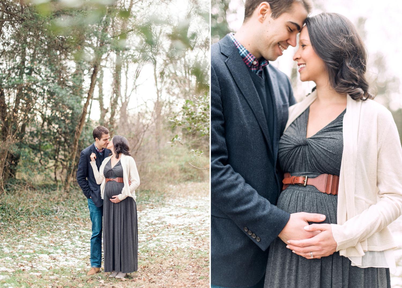 woodland maternity session