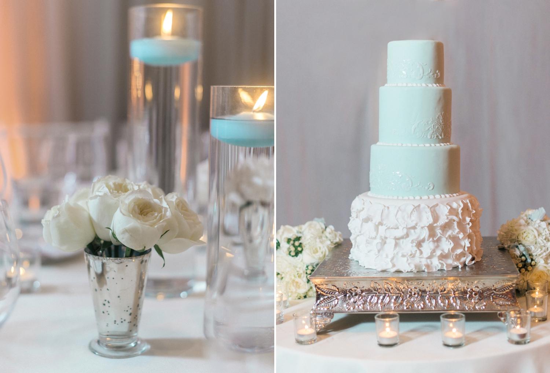 mint and ivory ballroom wedding