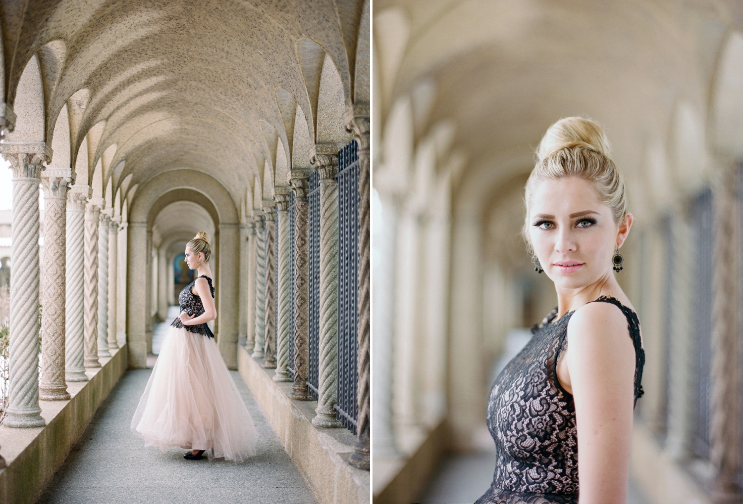 blush and black bridal inspiration shoot