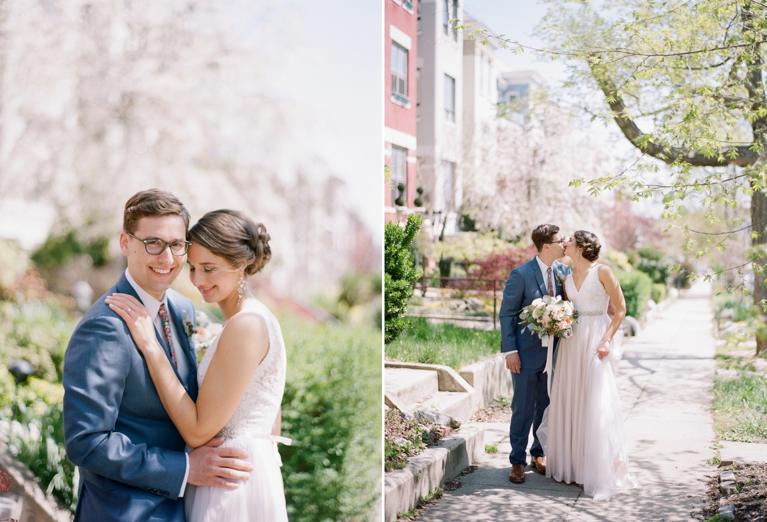 spring wedding photos on film