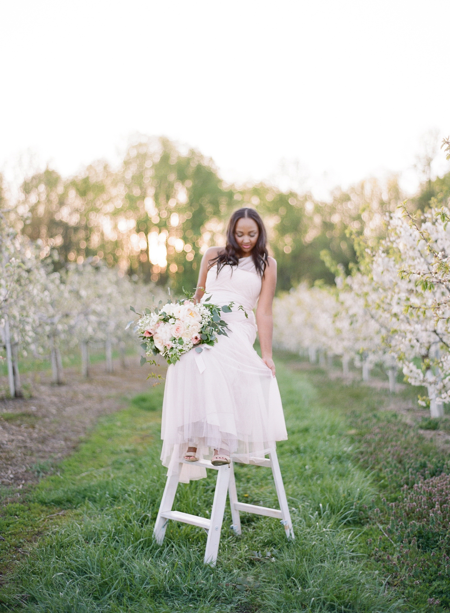 orchard bridal inspiration on film