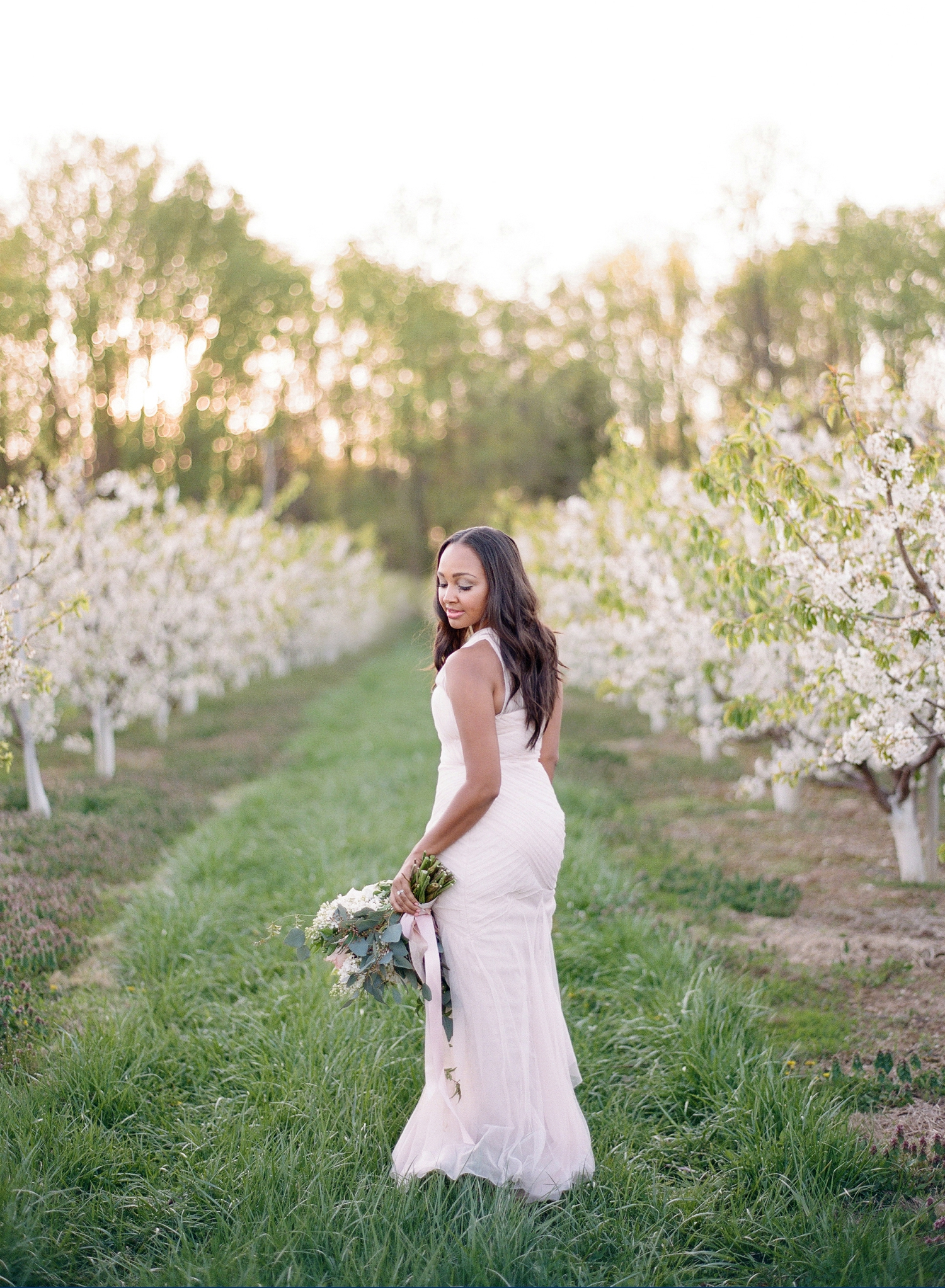 bridal orchard inspiration shoot on film I Washington DC