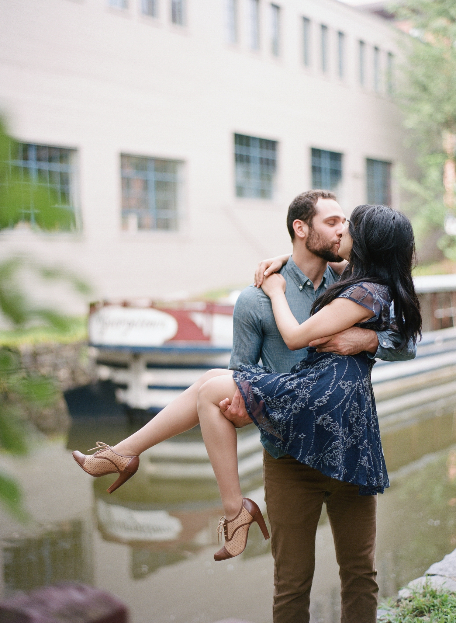 Georgetown engagement photos on film