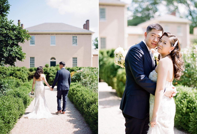 tudor place wedding portraits on film