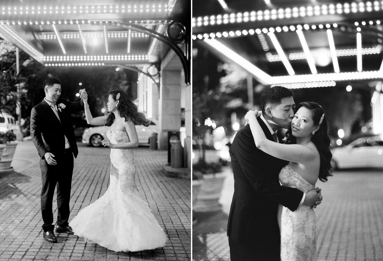 washington dc fine art film wedding photos black and white