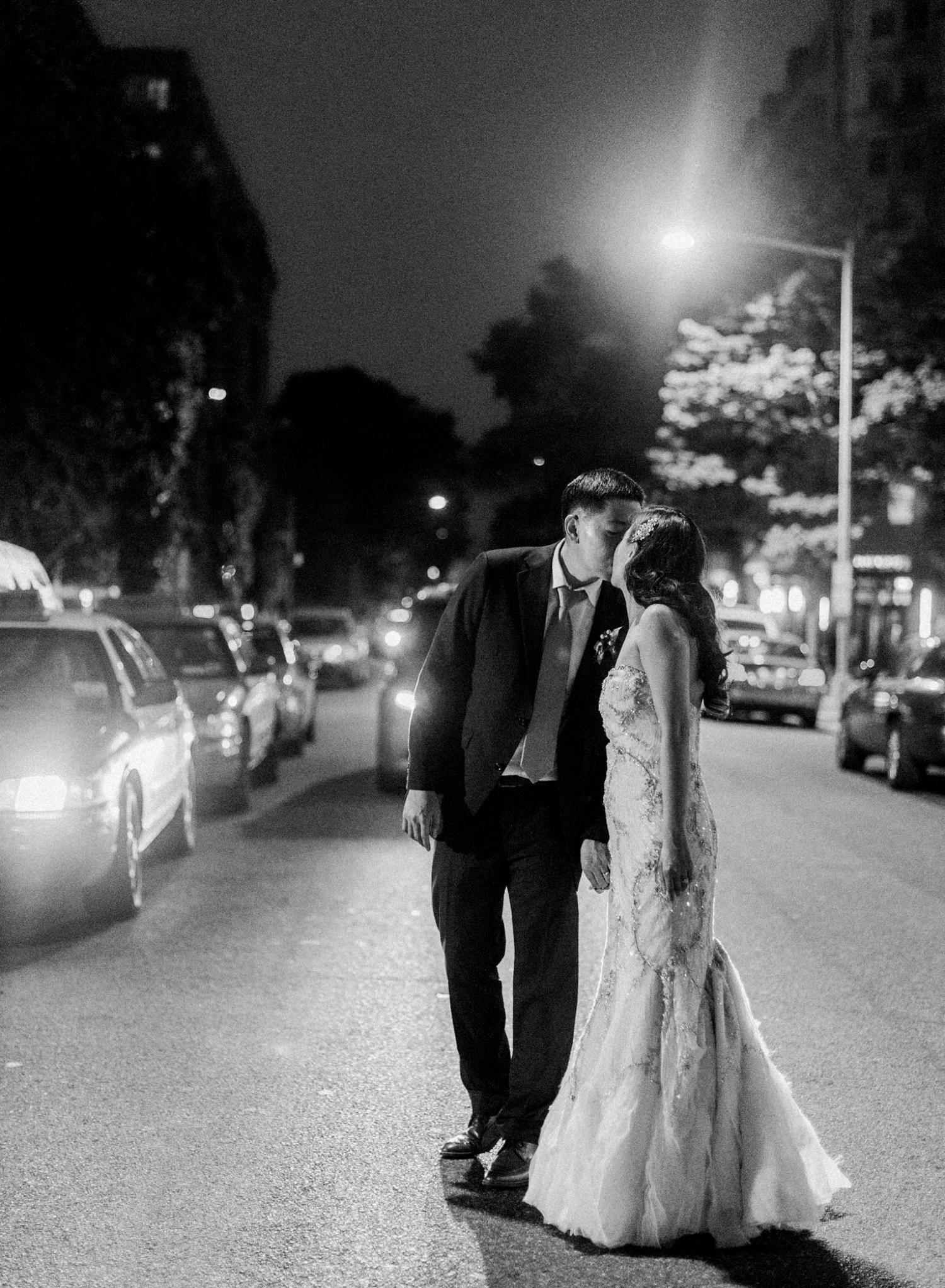 fine art film black and white wedding photos