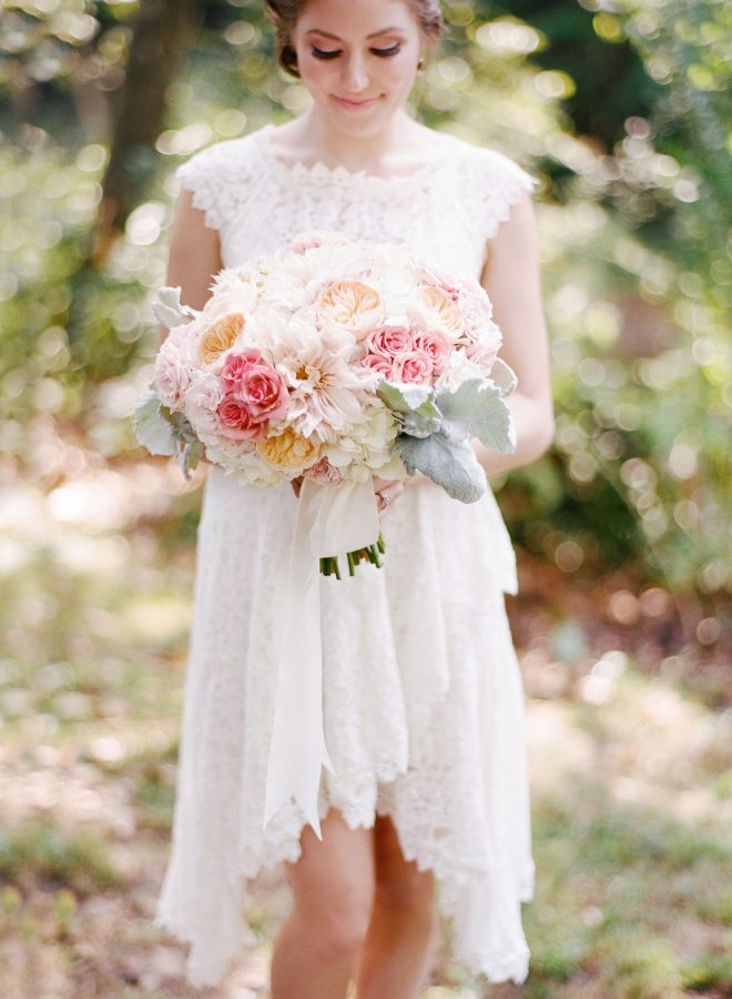 Pink and Mint Backyard Wedding