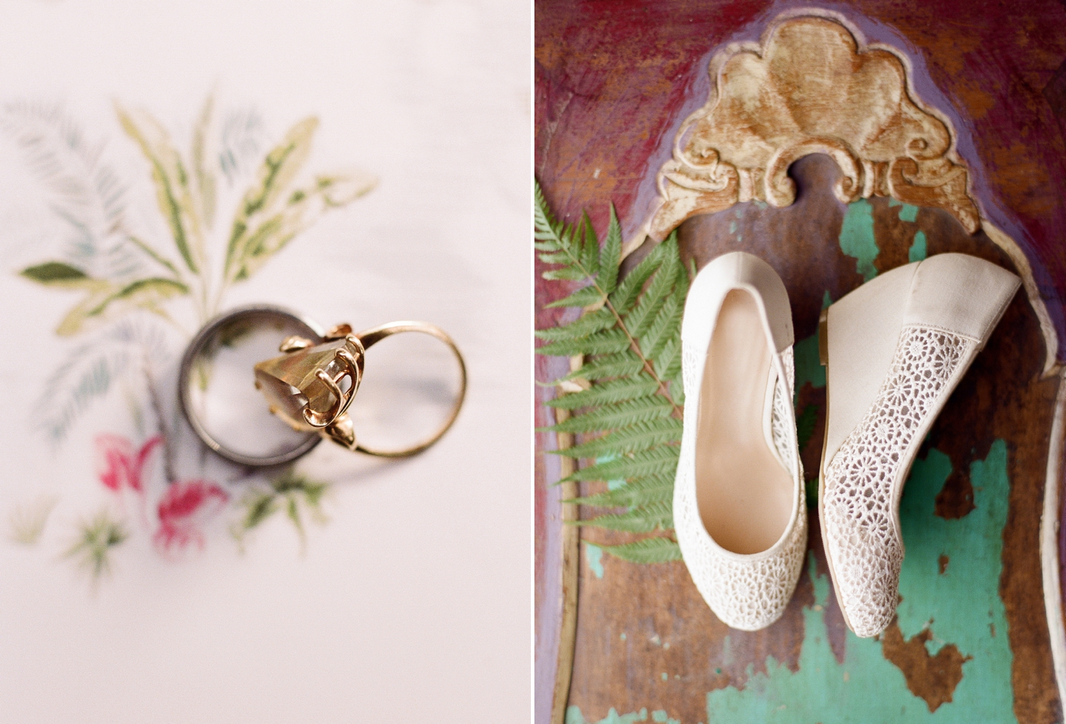 fine art film wedding details, destination wedding