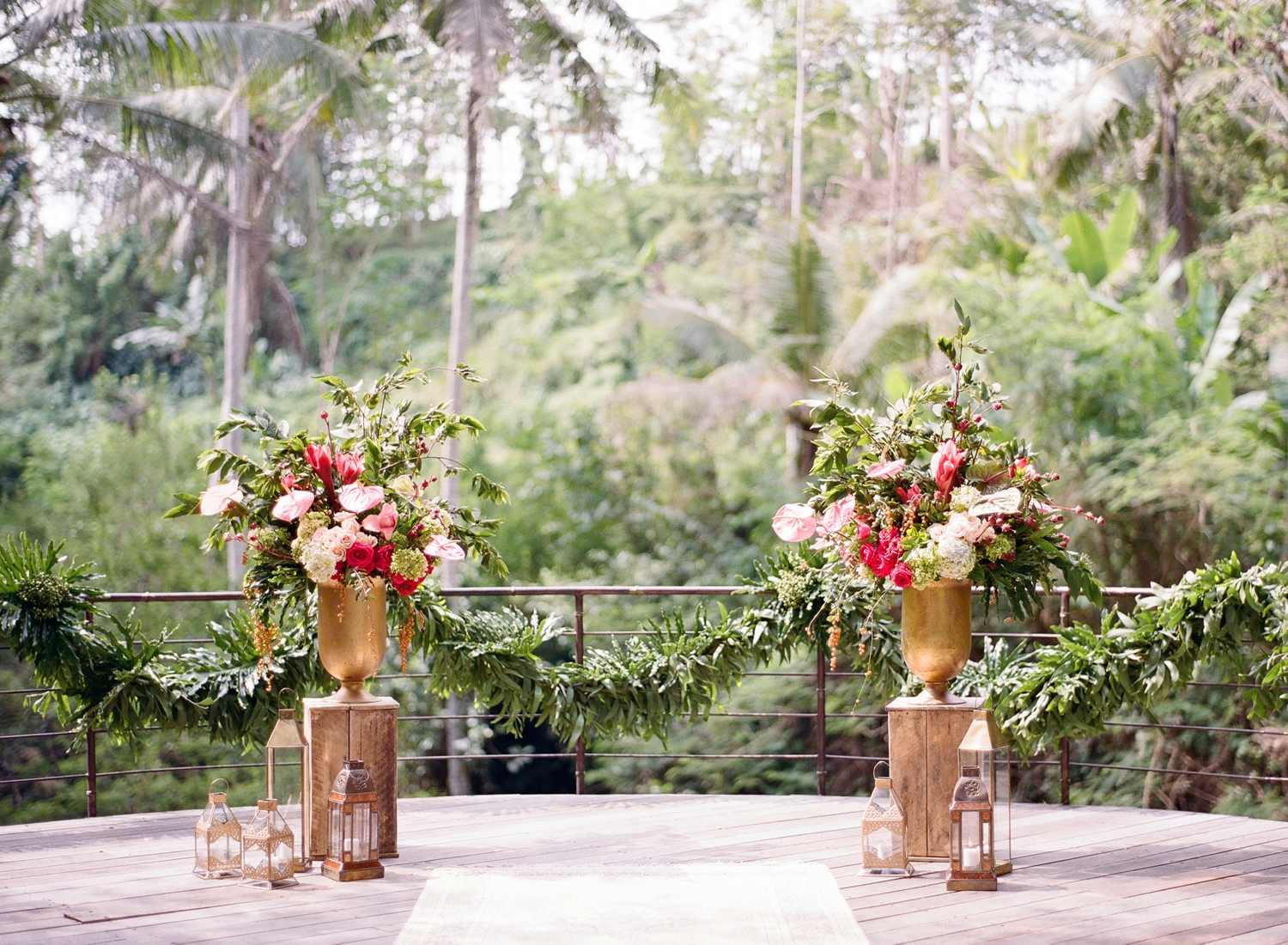 bali destination wedding ceremony decor