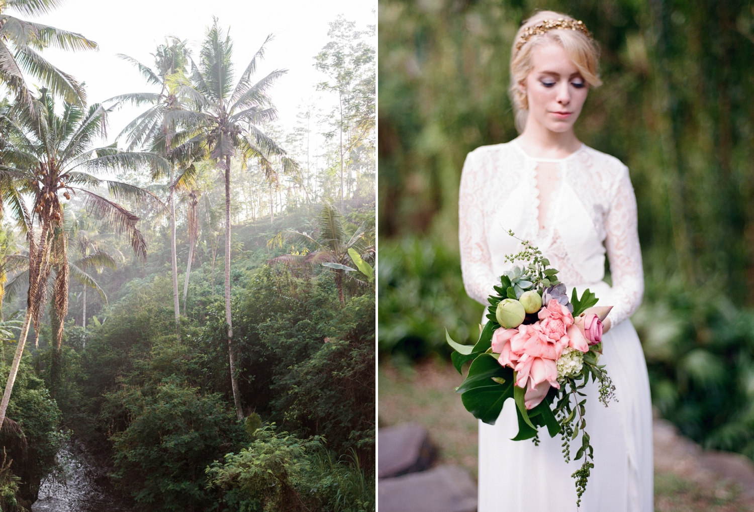 tropical bridal bouquet, Bali