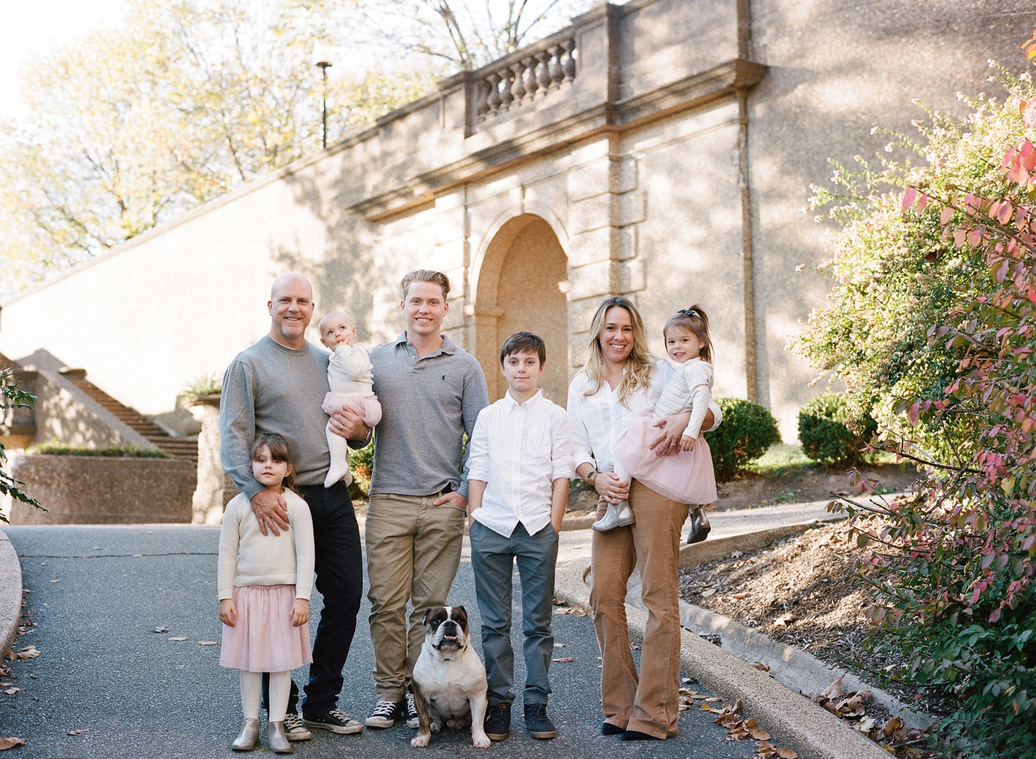 Meridian Hill Park family photo session on film