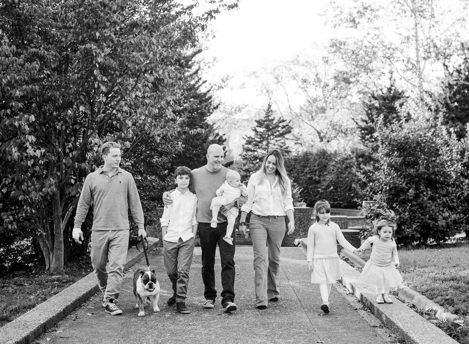 black and white family photography in washington dc