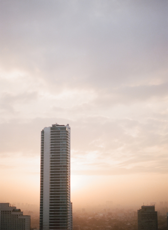 jakarta, indonesia on film sunrise