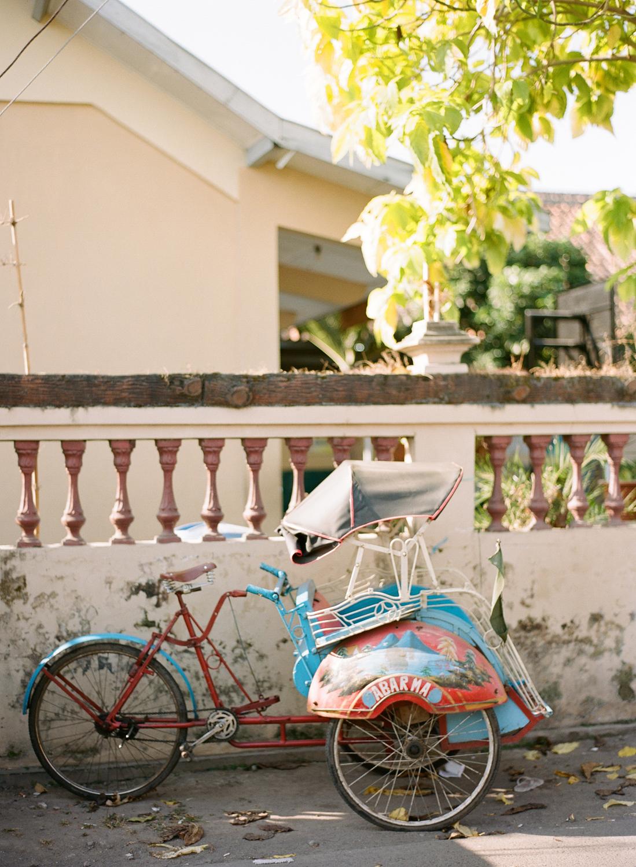 colorful indonesian rickshaw