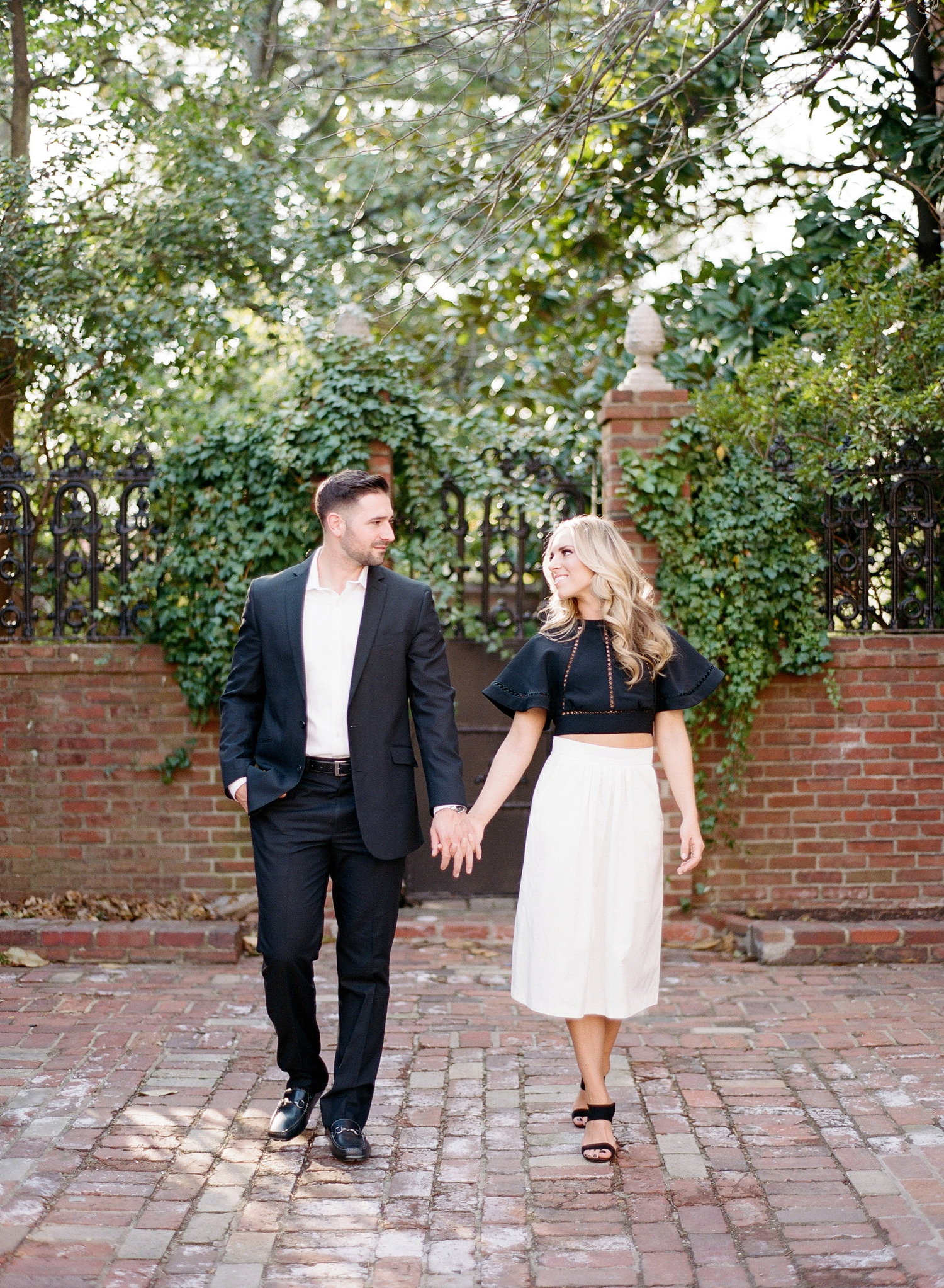 northern virginia engagement session on film, old town