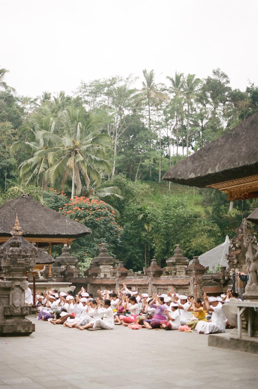 Tirta Empul prayers in Bali, Indonesia