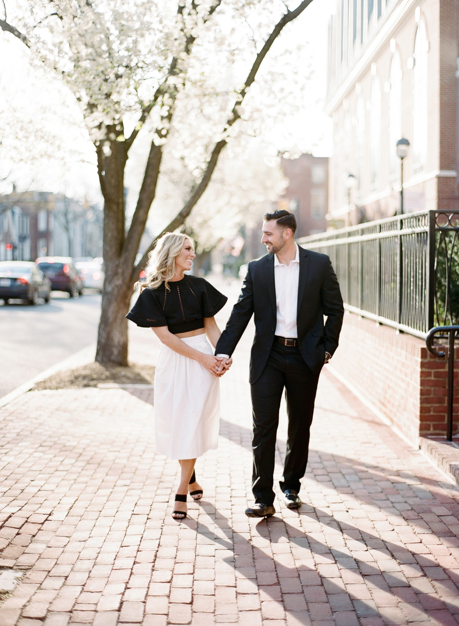 fine art film engagement photos in northern virginia