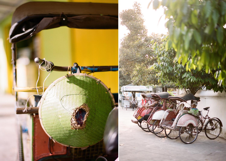colorful Indonesia on film I rickshaw