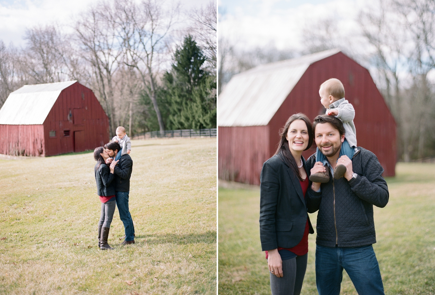 rustic family portraits on film