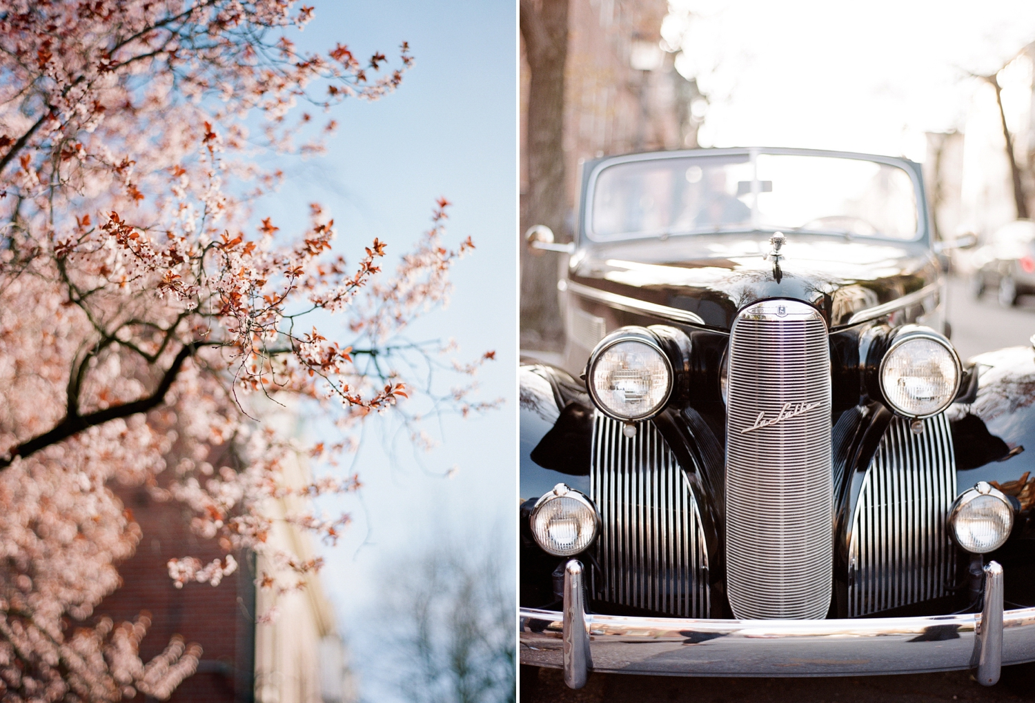 classic car engagement session in old town alexandria