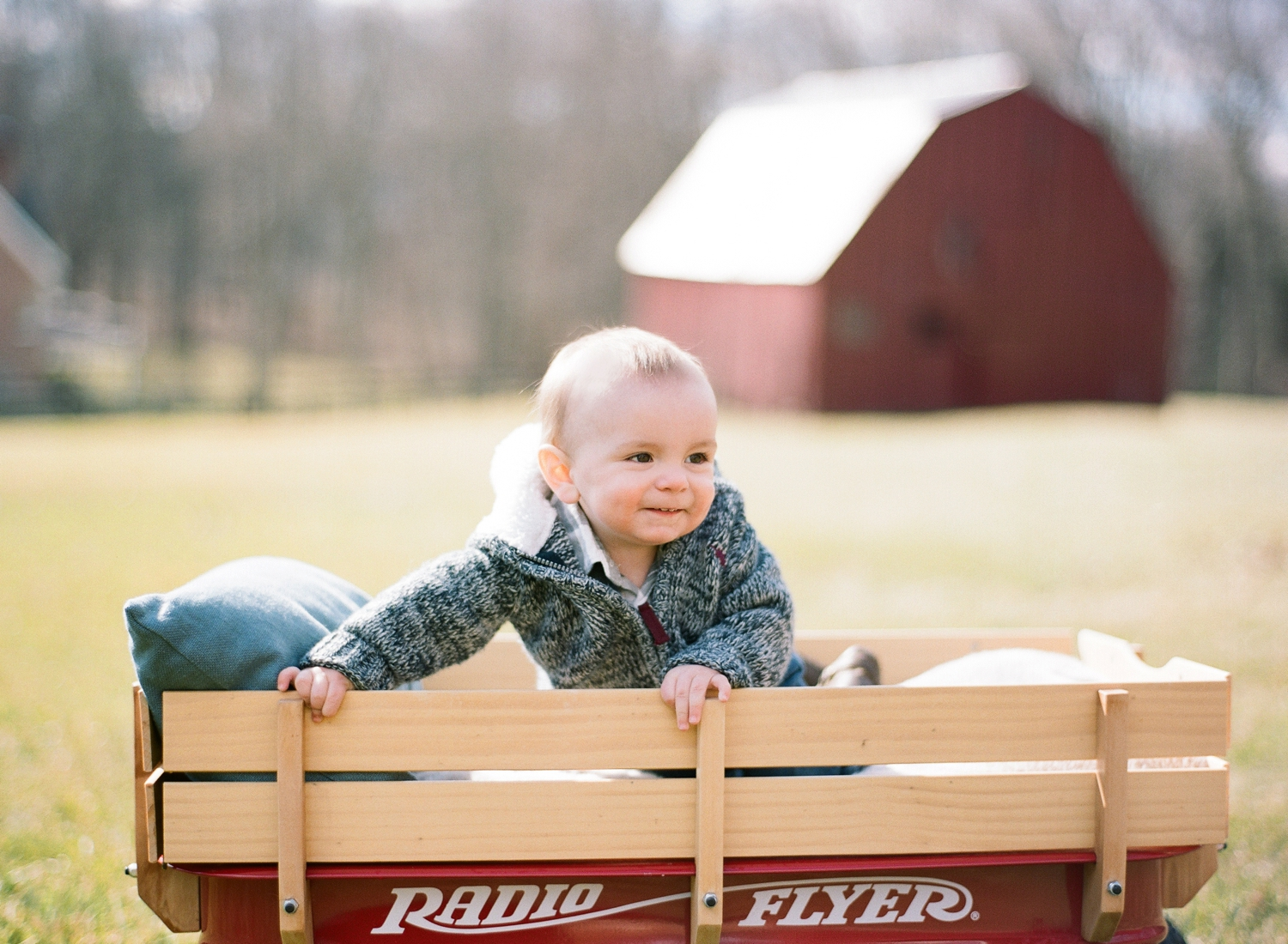 one year old portraits on film, virginia baby photographer