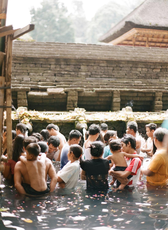 Tirta Empul holy springs, Bali Indonesia film photos