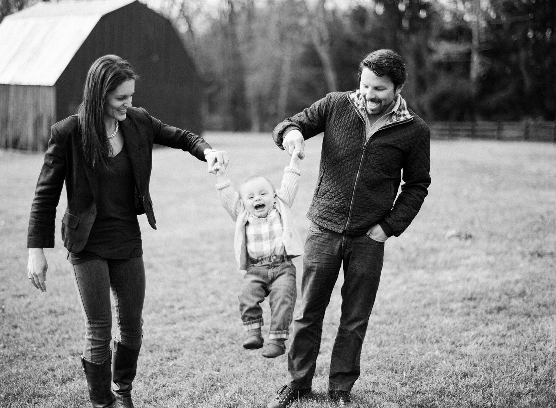 black and white family photos on film