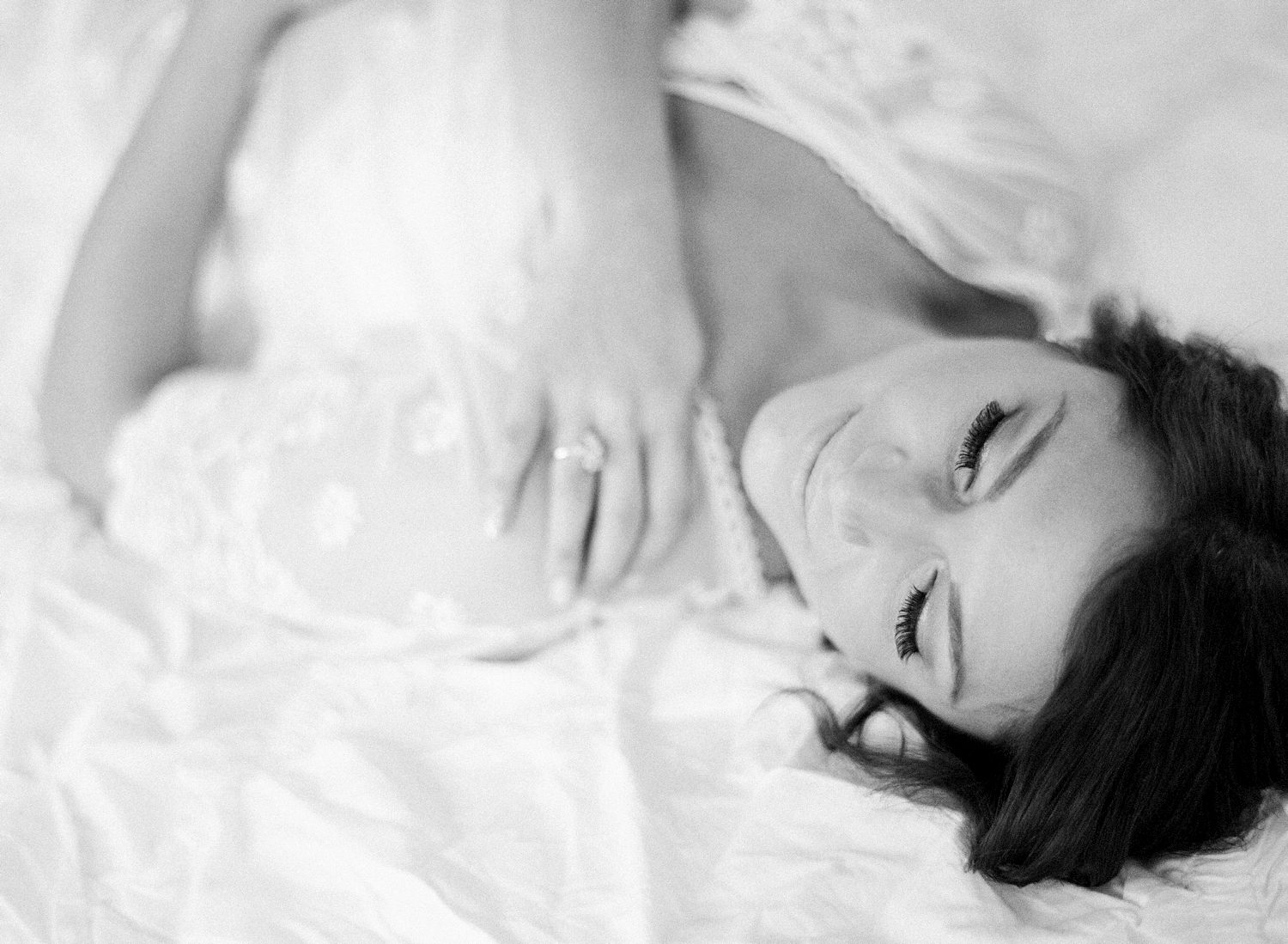 Spring Boudoir Session on Film, black and white
