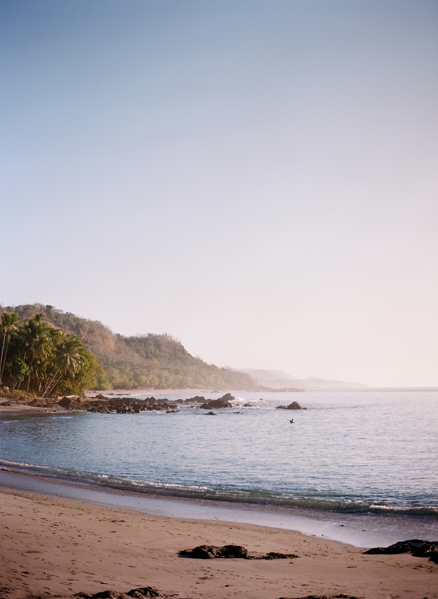 montezuma beach in costa rica, fine art film photos