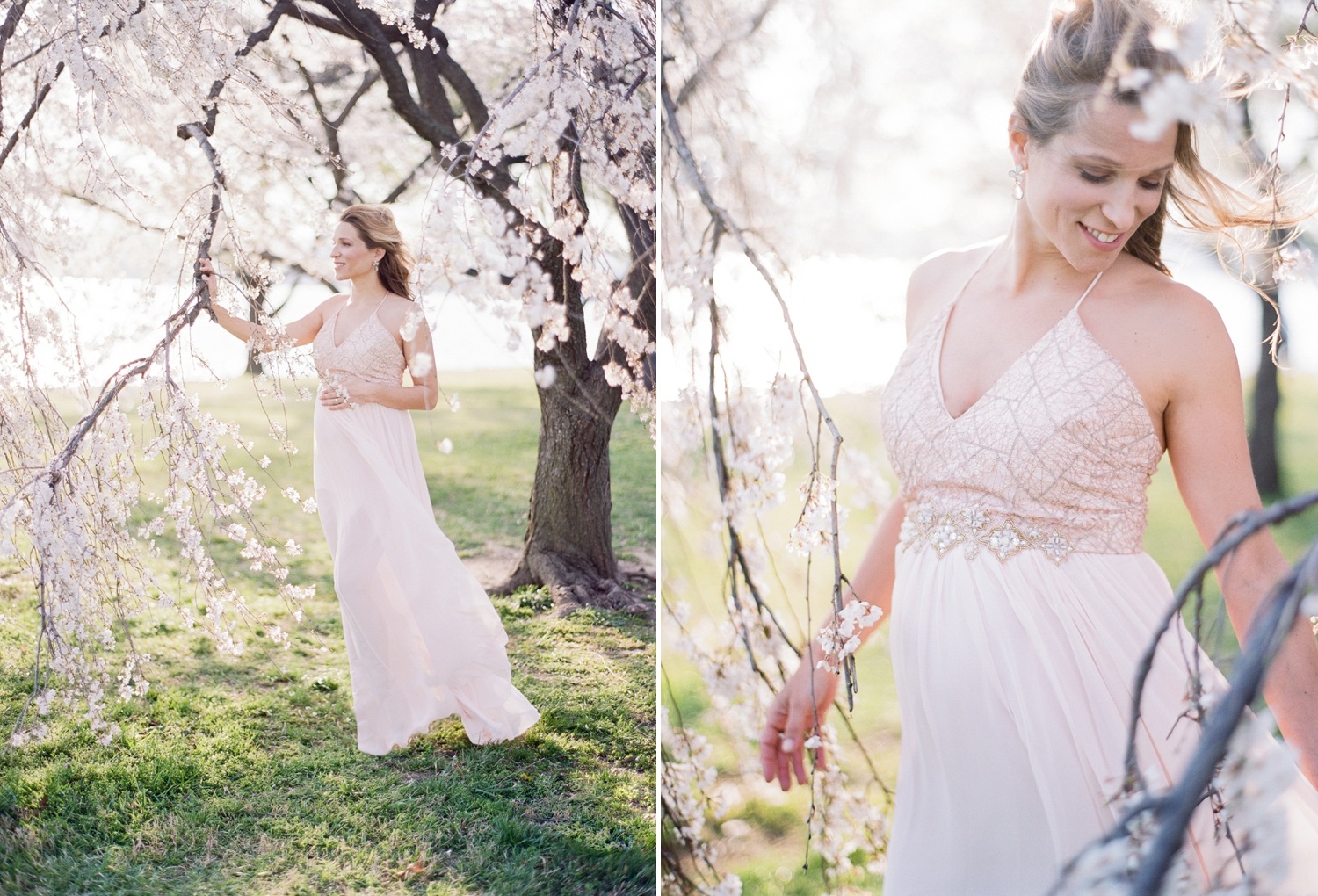 fine art film spring maternity session in DC