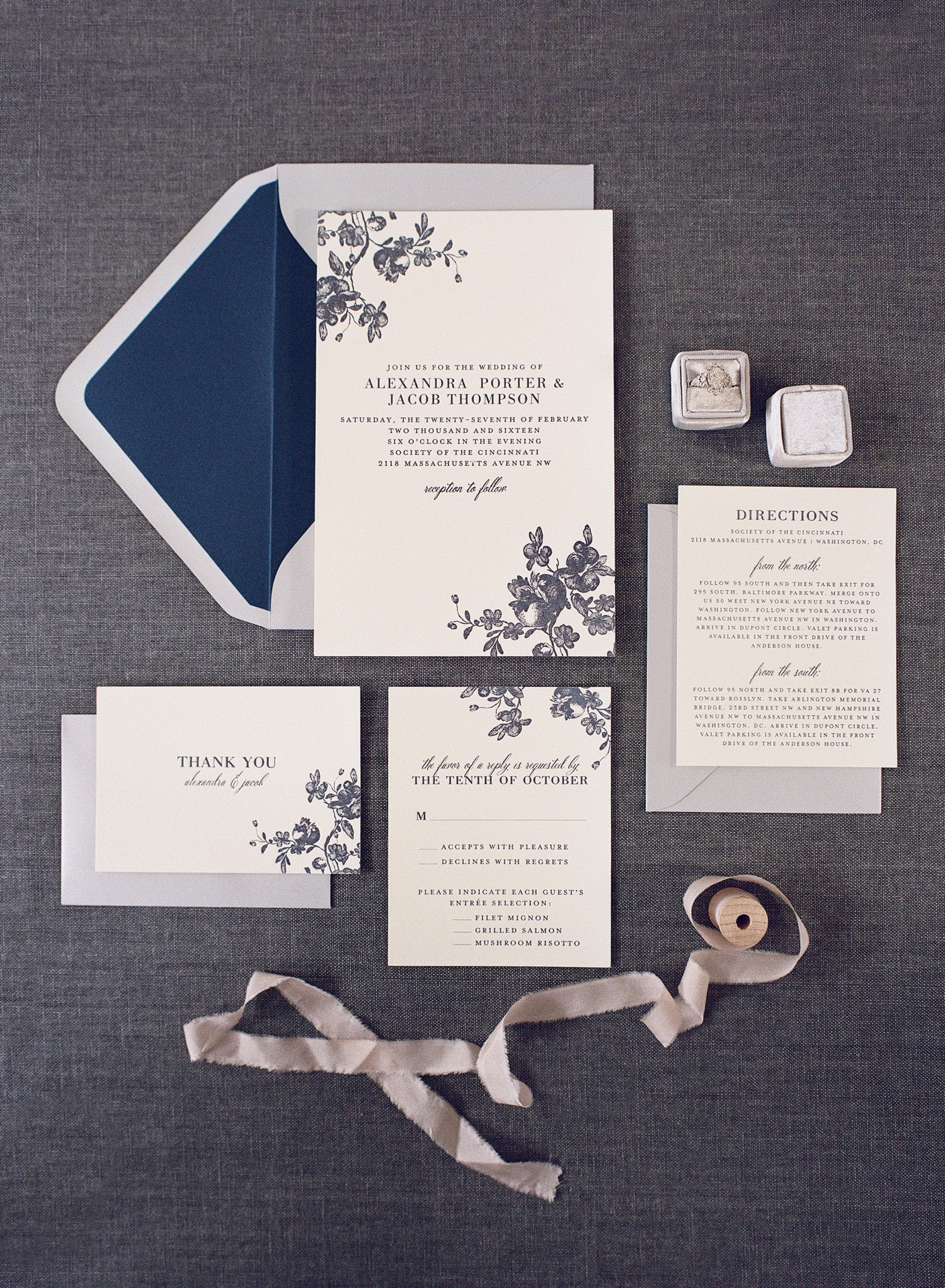 letterpress invitation suite styling