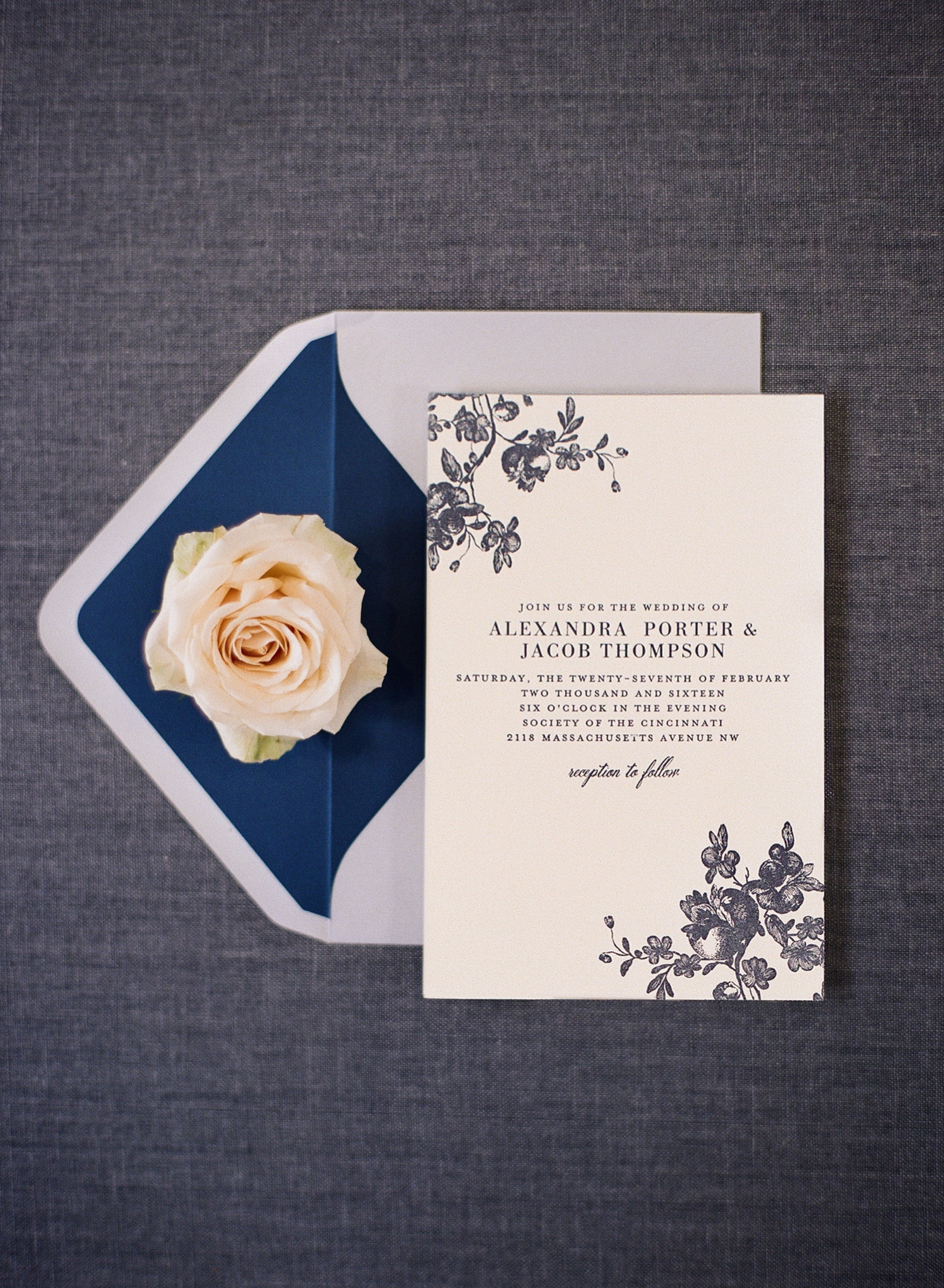 fine art invitation styling, letterpress from Wedding Paper Divas