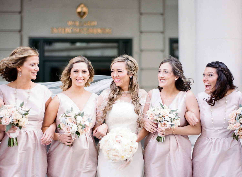bridal party, willard dc wedding