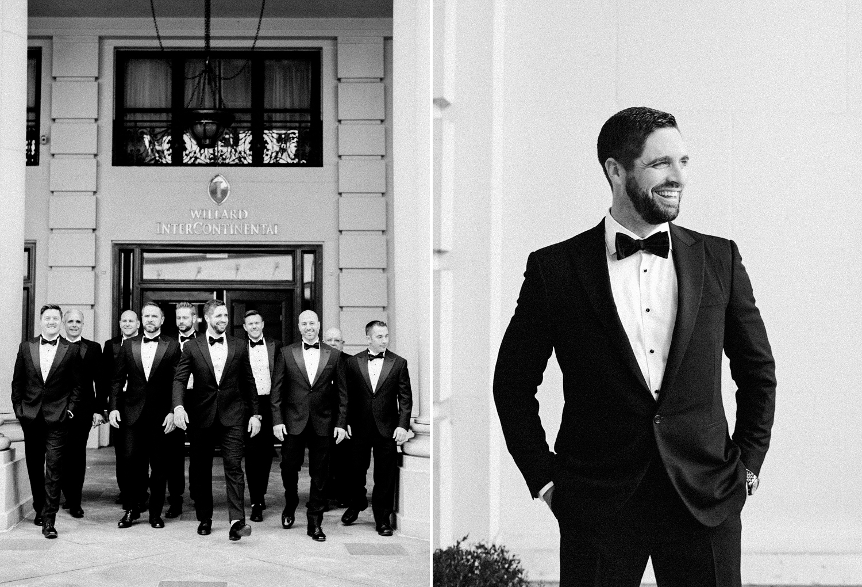 willard hotel groomsmen photos