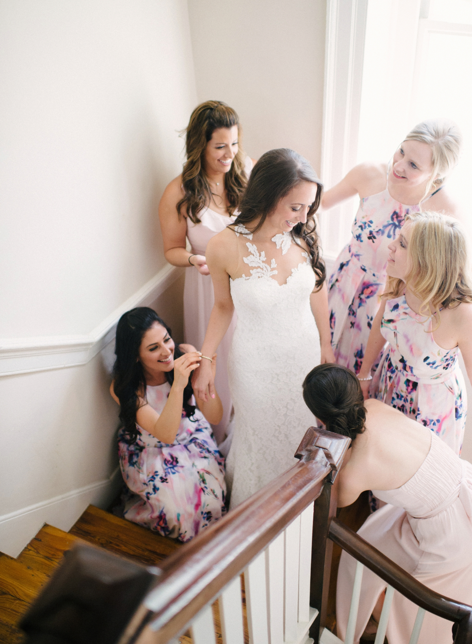 mix and match bridesmaid dresses, springfield manor wedding