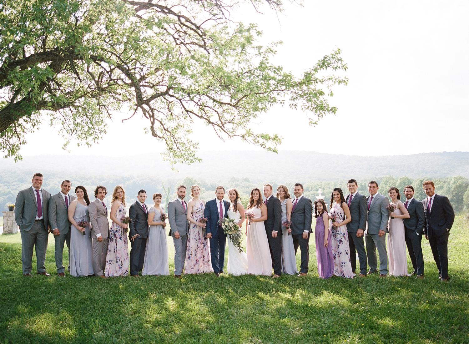 springfield manor winery wedding party photos