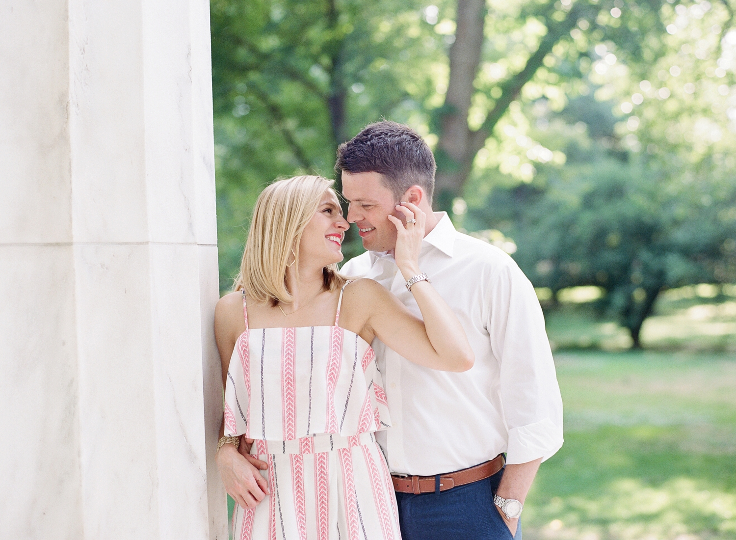 fine art film engagement photos at the DC monuments