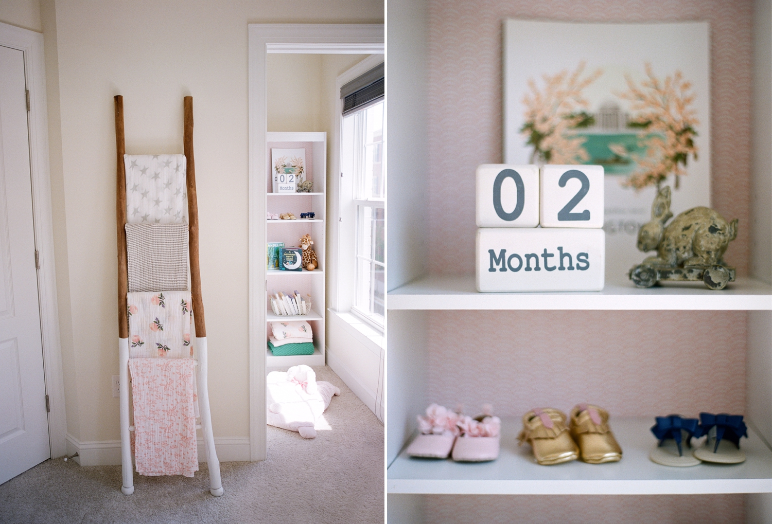 blush baby girl nursery design