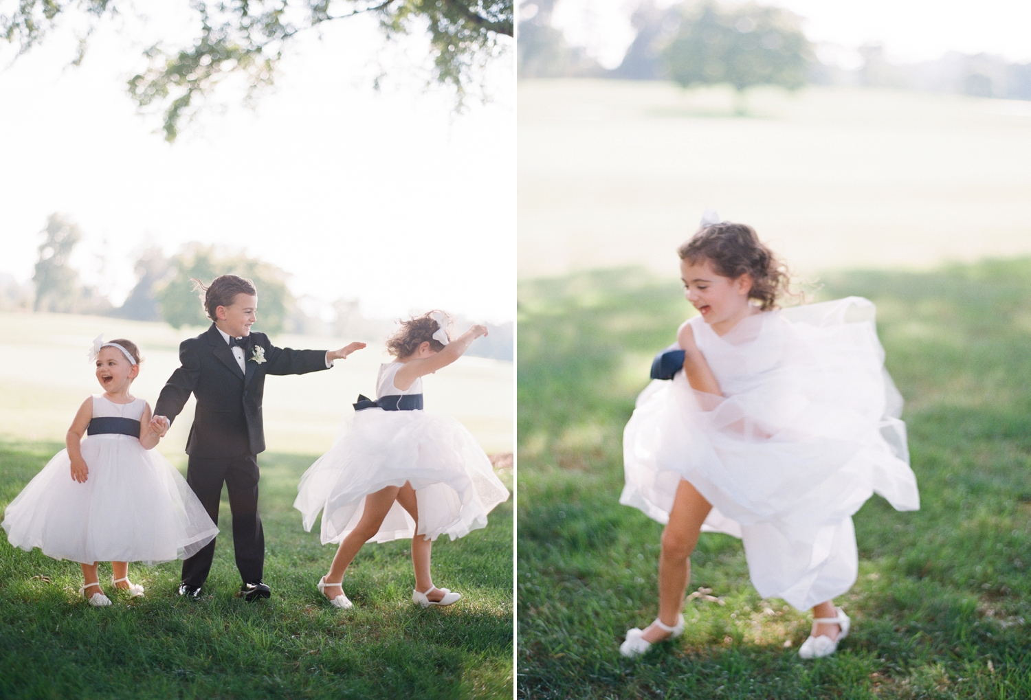 flower girl and ring bearer, chevy chase club wedding