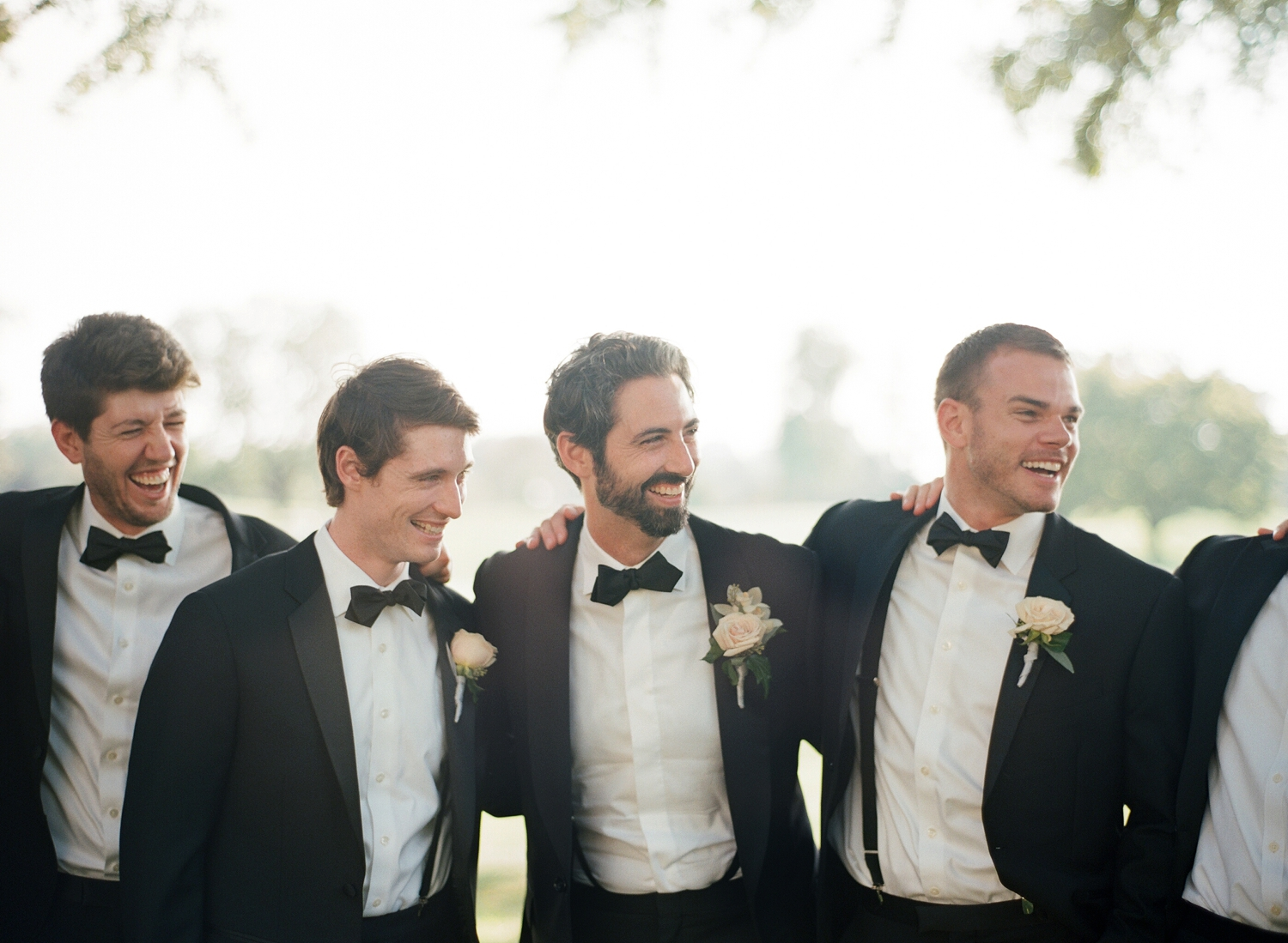 black tie wedding at chevy chase club groomsmen