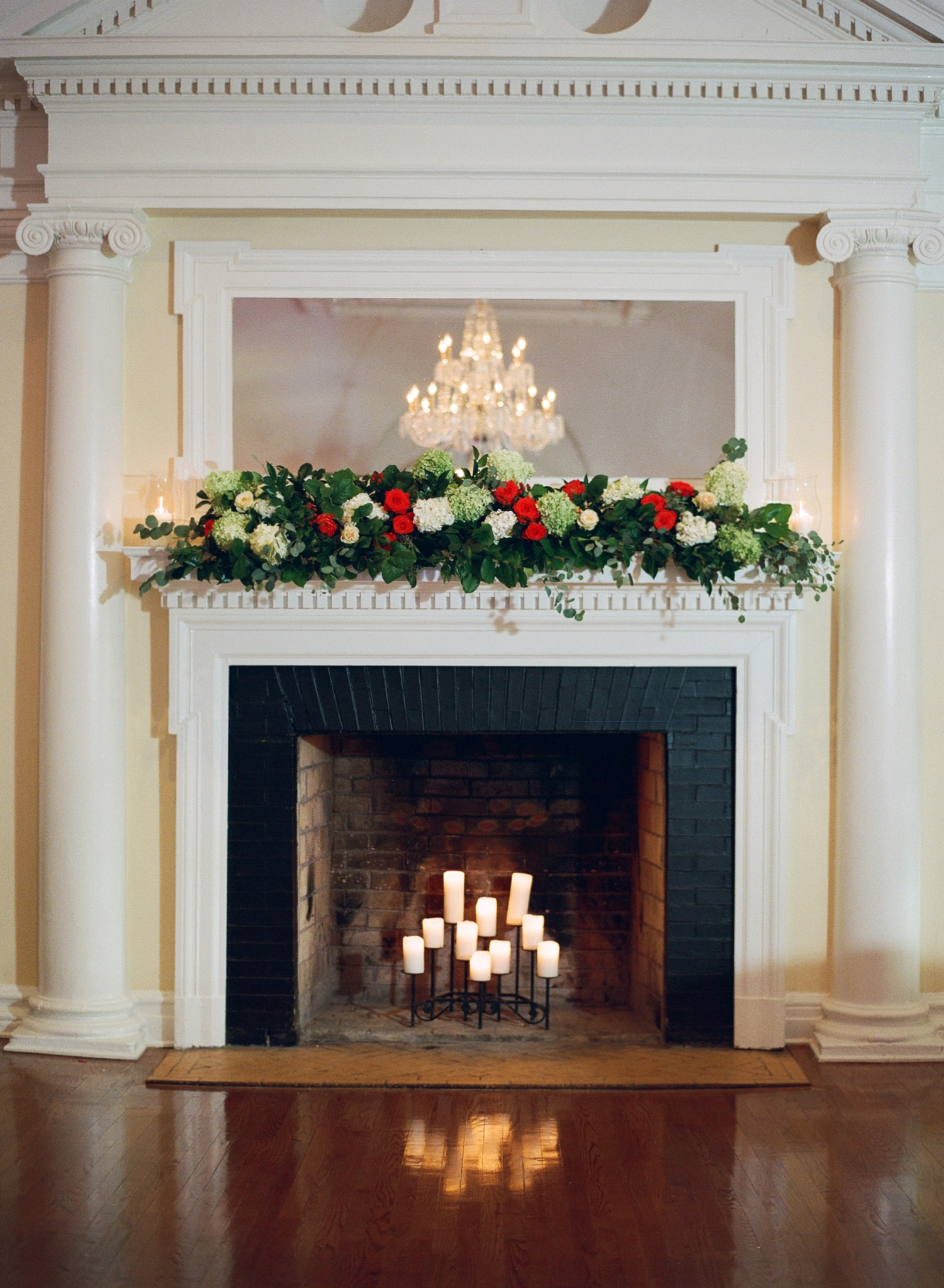 mantel decoration chevy chase club