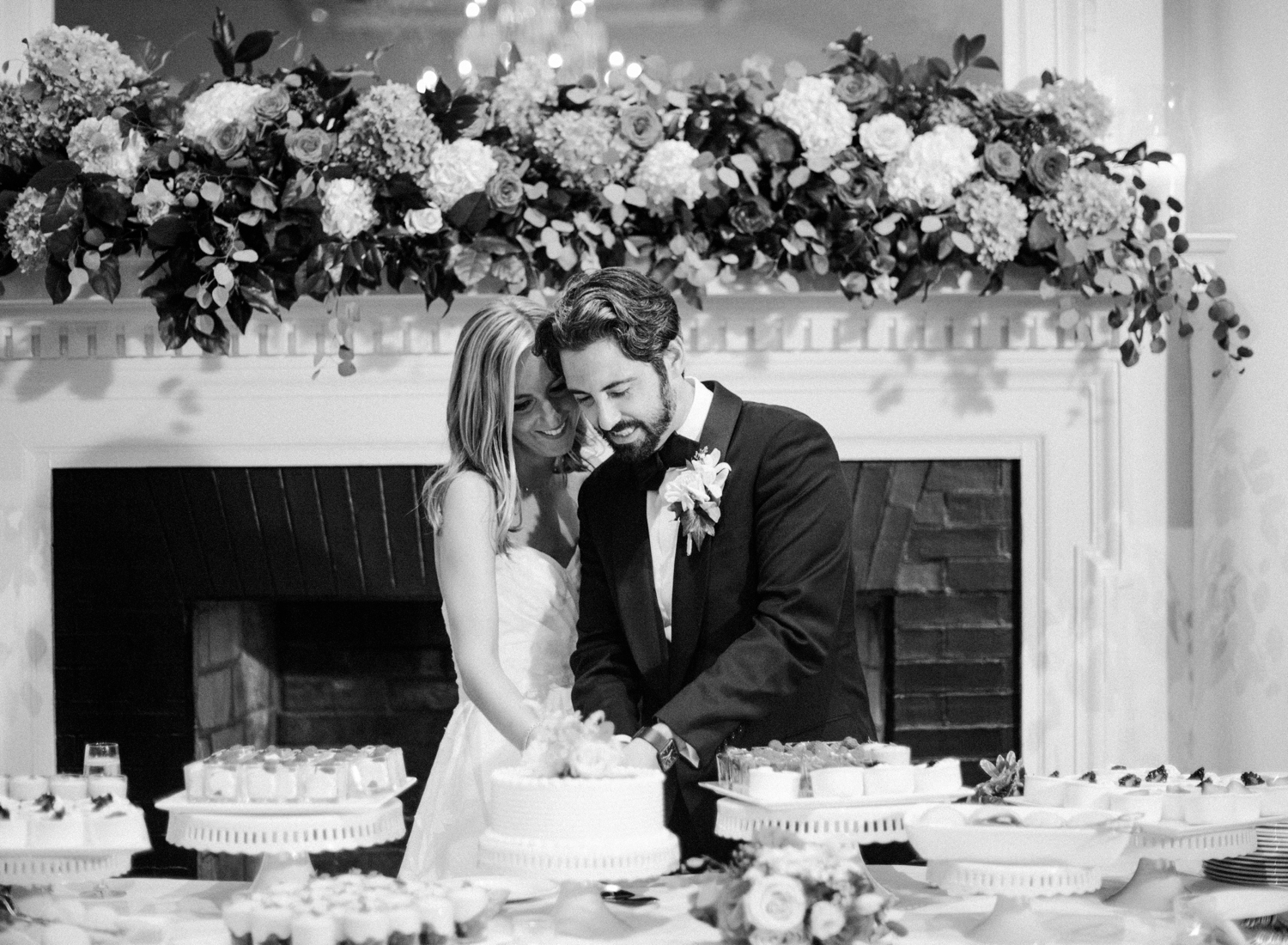 cake cutting black and white chevy chase club