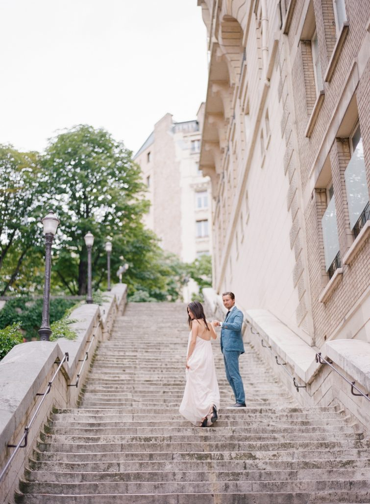 parisian engagement session