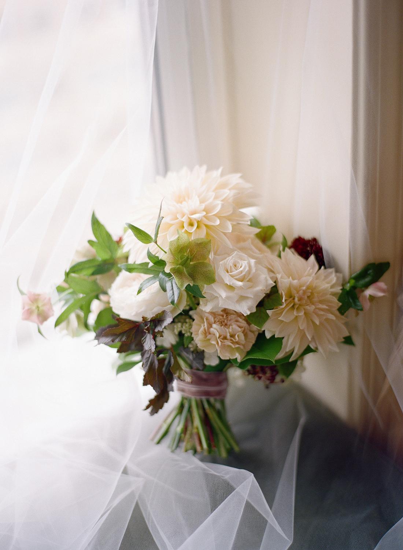 fine art film photographer, dahlia bouquet