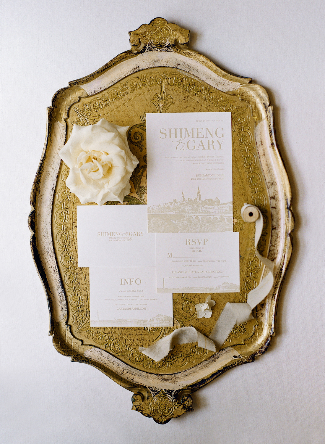 invitation styling, fine art bride; washington dc fine art film photographer