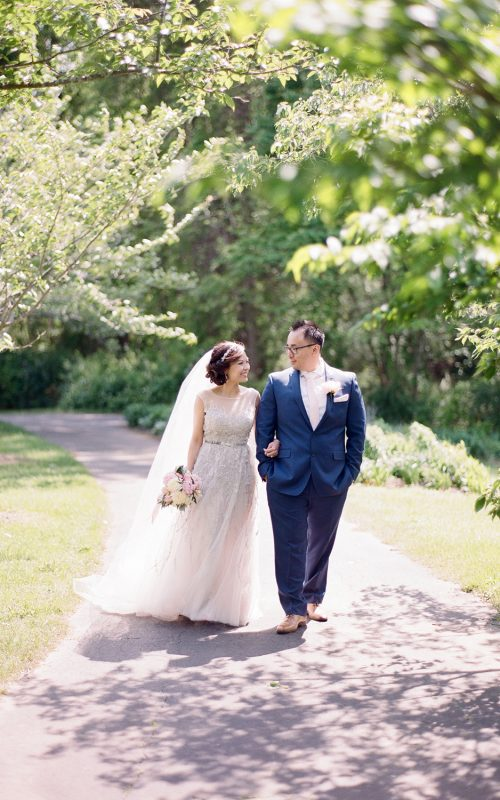 Pastel Meadowlark Botanical Garden Wedding
