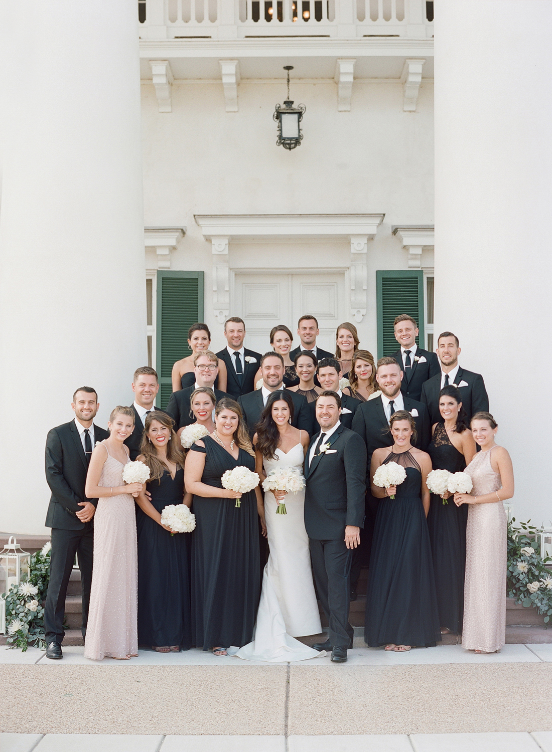 morven park wedding, bridal party