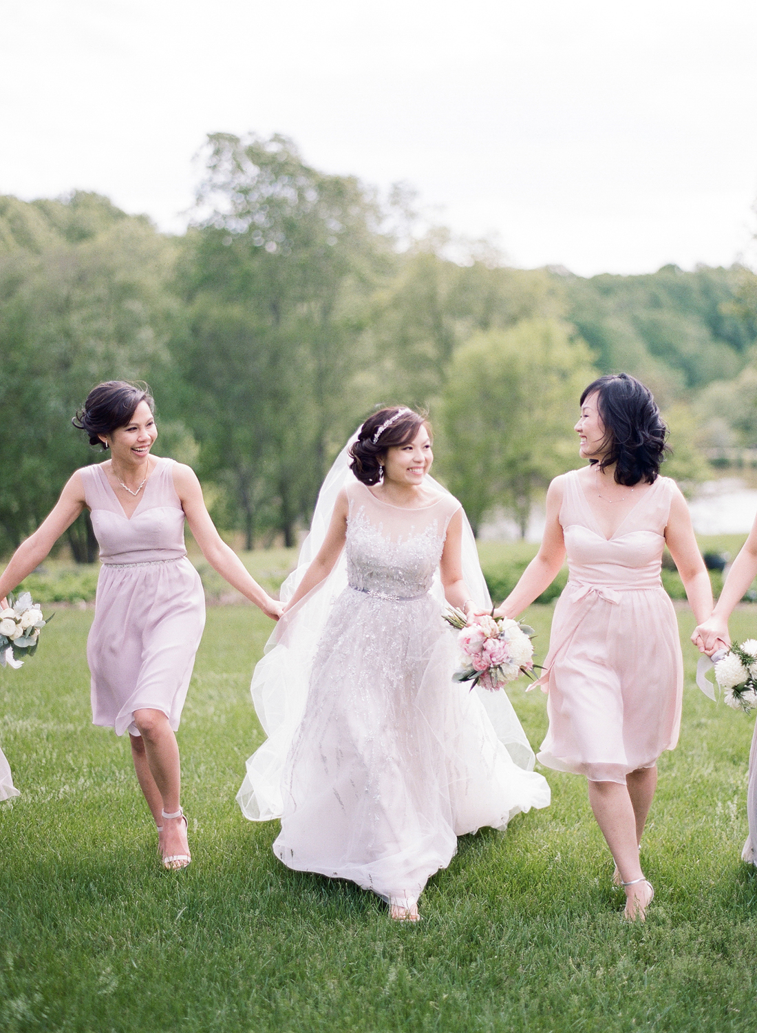 Pastel Bridesmaids Virginia wedding