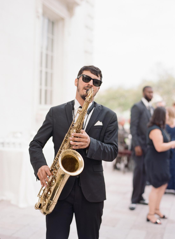 Sax player DAR constitution wedding