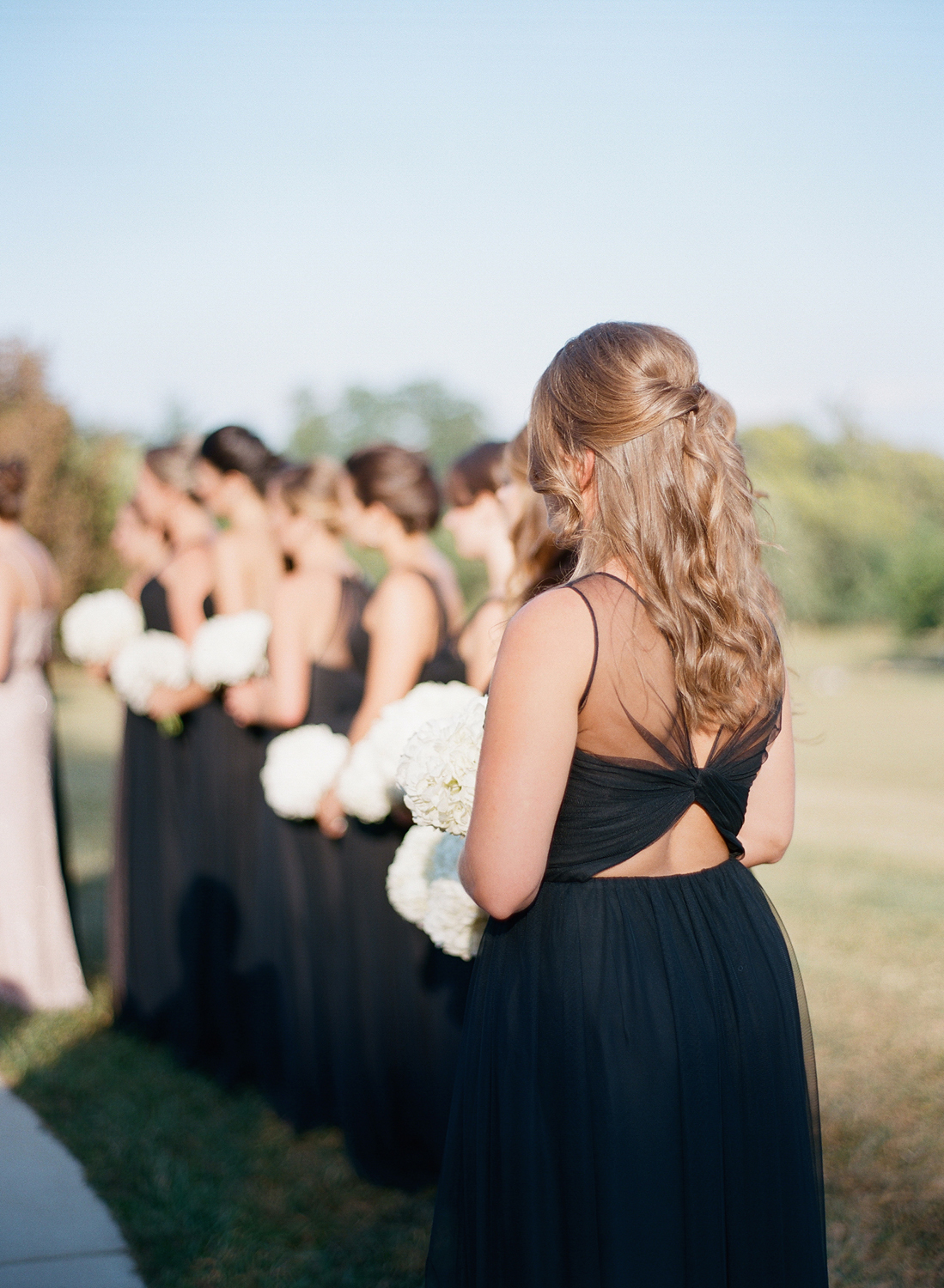 Morven Park Wedding black bridesmaids dresses